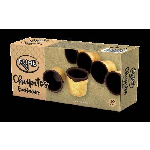 CHUPITOS CHOCOLATE - ESTUCHE 10 UD.