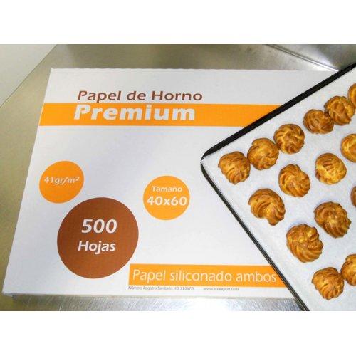 PAPEL HORNO PREMIUM <p>CAJA DE 500 HOJAS (60x40 cm)</p>